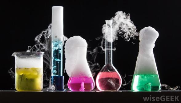 chemical-reactions-in-five-beakers